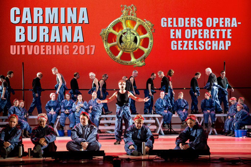 Poster concert Carmina Burana Gelders Opera en Operette Gezelschap